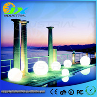 Led RGB Path Ball Light Led Outdoor Floor Lamp Waterproof IP65 Rechargeable PE Material Round Balls