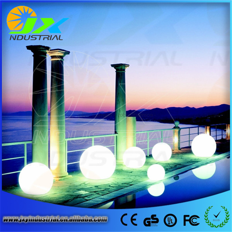 led RGB path ball light / led outdoor floor lamp waterproof IP65 rechargeable PE material round balls light