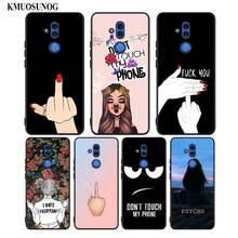 Black Silicon Phone Case Dont touch my bitch for Huawei Honor Mate 7C 7A 8 8A 8X 9 10i 10 20 Nova 3 3i Pro Lite