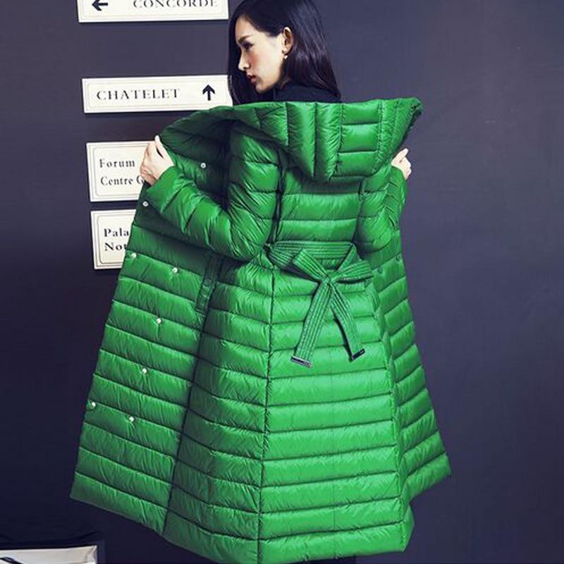 Winter   Coat   Women 2019 New Winter Jacket Women White Goose   Down   Parka Female Thickening Slim   Down   Jacket Casual Parkas Overcoat