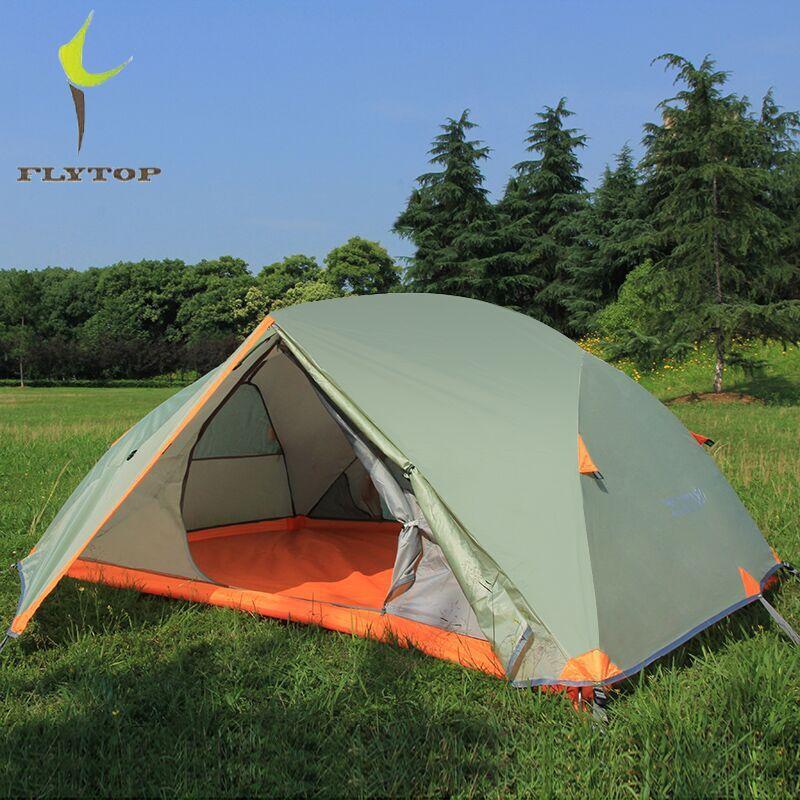 FLYTOP Extérieure Tente Imperméable À L'eau 5000mm Double Couche Tige D'aluminium 2 Personne Camping Randonnée Tente Léger 2.3 kg Tentes Touristiques