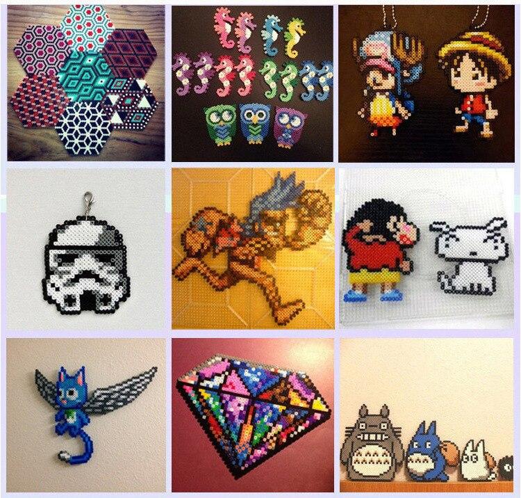 72 perles Perler couleur 39000 pièces boîte ensemble de perles Hama 2.6mm pour enfants puzzle éducatif bricolage jouets fusible perles panneau perforé - 6