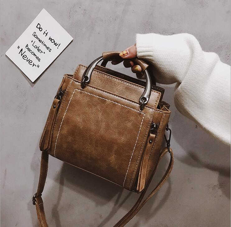 Pu Leather Retro Handbag Casual Tote Bag Women Crossbody Bag Female Shoulderbag #286