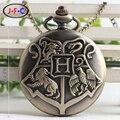 Гарри Поттер ретро кварцевые карманные часы Хогг Вт флип снитч школа магии в честь студентов стол DS081