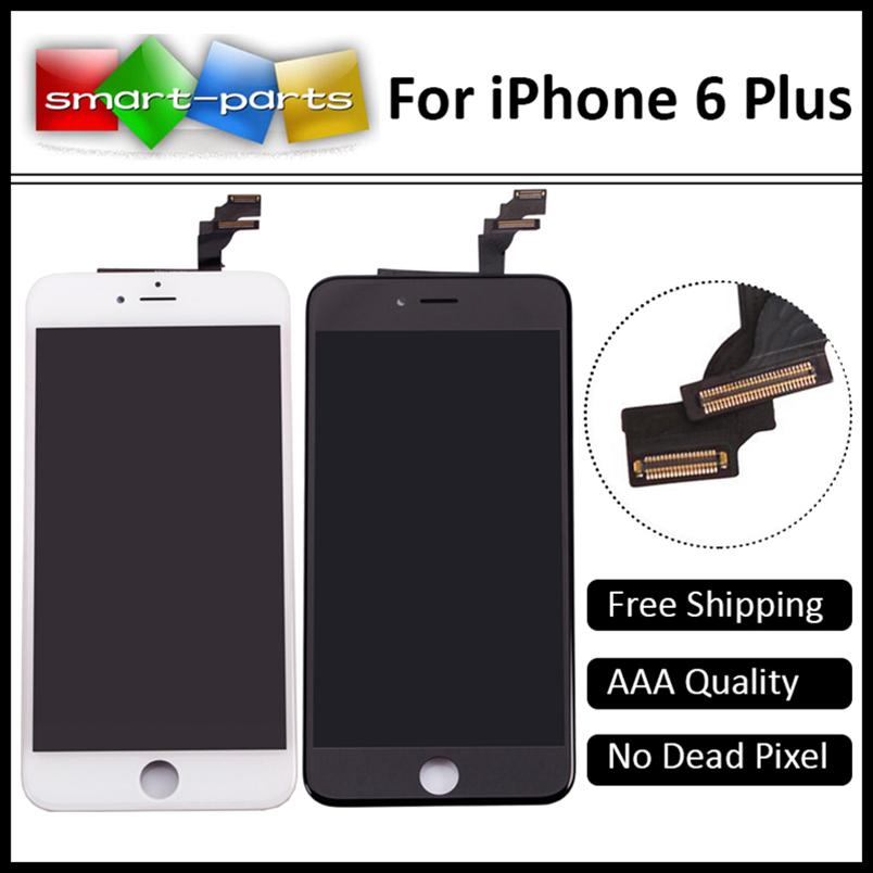 Prix pour Meilleure Qualité Grade AAA Tianma Pour iPhone 6 Plus LCD Écran + Écran tactile Digitizer + Cadre Aucun Pixel Mort 100% Testé