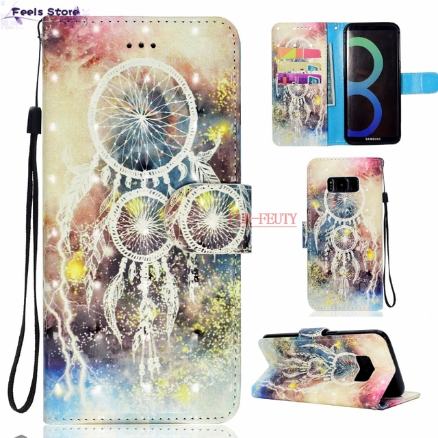 for Samsung S8+ S8PLUS SM-G955FD SM-G955F G955FD G955F Phone Leather Cover Flip Case for Samsung Galaxy S8 PLUS S 8 PLUS Bags