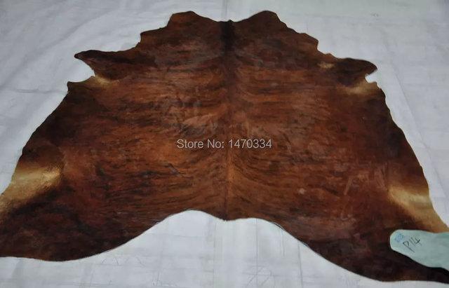 New Cowhide Rug Large Cow Hide Skin Leather Bull Carpet Animal Throw Steer 34 75sqft