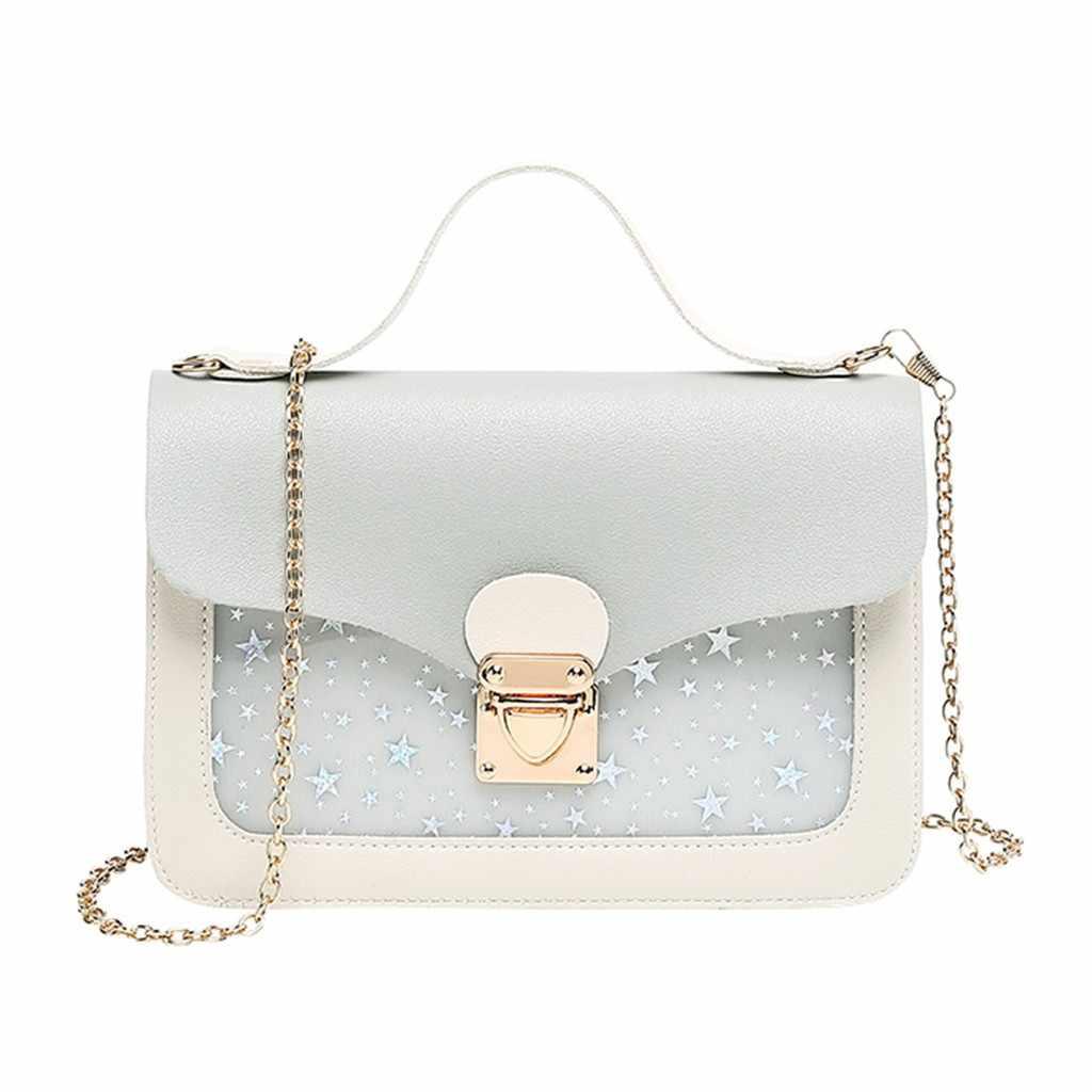Mode moderne étoile femmes sac à bandoulière 2019 luxe petit téléphone portable sac dames bandoulière messager sac à main adolescentes