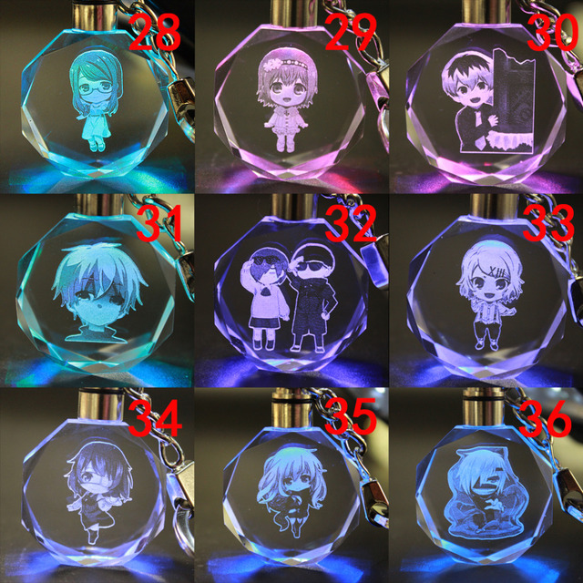 Tokyo Ghoul Crystal Led Key Chain