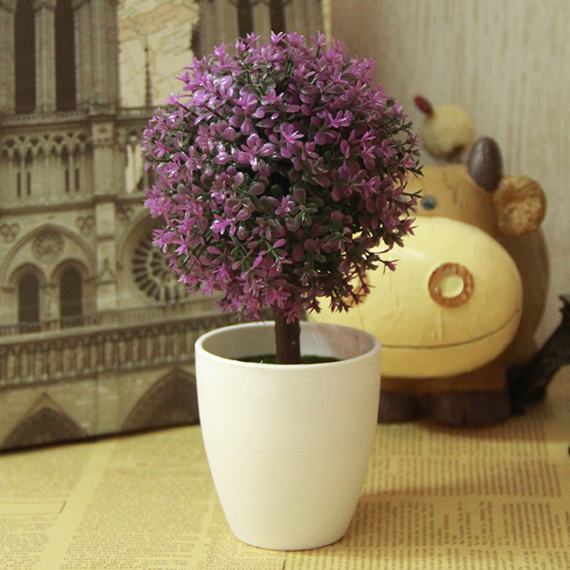 new arrival artificial topiary tree ball plants in pot colorful fake