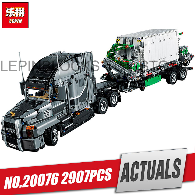DHL Lepin 20076 Technic Series The Mack Big Truck Set 42078 Building Blocks Bricks Educational legoing Toy For children As Gift lepin 20076 technic series the mack big
