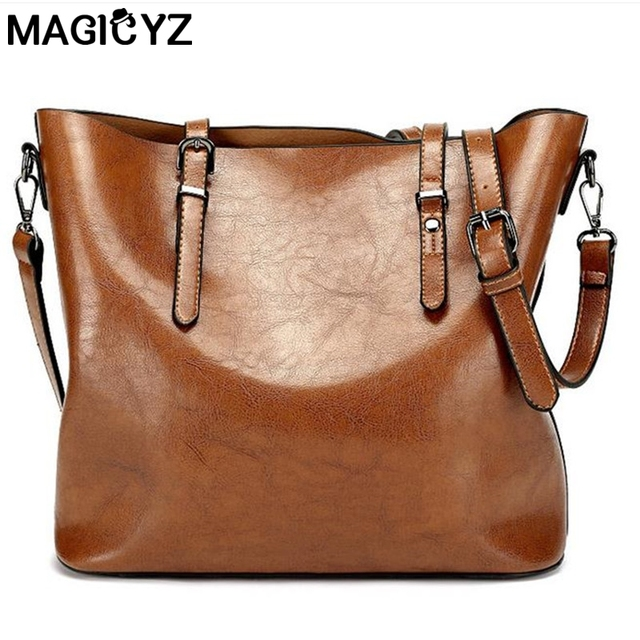 Women's handbag Ladies pu leather bags women leather handbags casual tote Shoulder Bags vintage bag bolsas femininas for bolsa