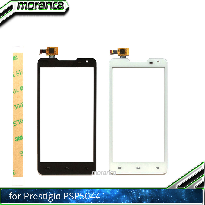 5.0 Touch Panel Front Glass Sensor Touchscreen Touch Screen Digitizer For Prestigio MultiPhone Duo PAP 5044 PAP5044 +3M Sticker