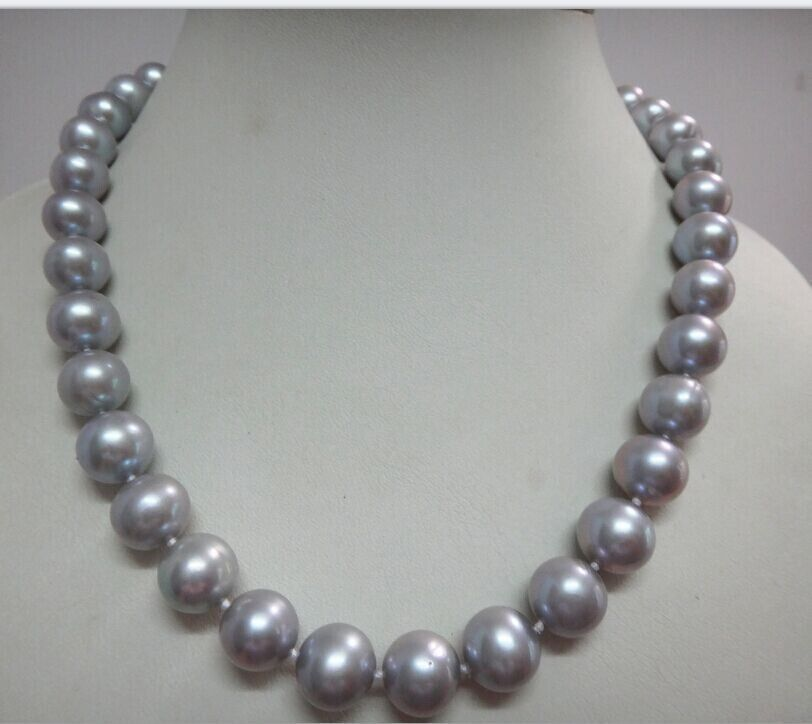925silver White clasp GORGEOUS 10-11 MM NATURAL TAHITIAN GRAY PEARL NECKLACE 18925silver White clasp GORGEOUS 10-11 MM NATURAL TAHITIAN GRAY PEARL NECKLACE 18