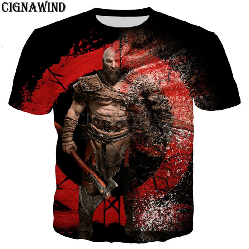 GOW Shirt men/women game Kratos God Of War 3D print t-shirts 1