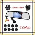 Carro Sensor de estacionamento de 8 Redars 5 Auto espelho Monitor + câmera de visão traseira câmera reversa Kit estacionamento assistência