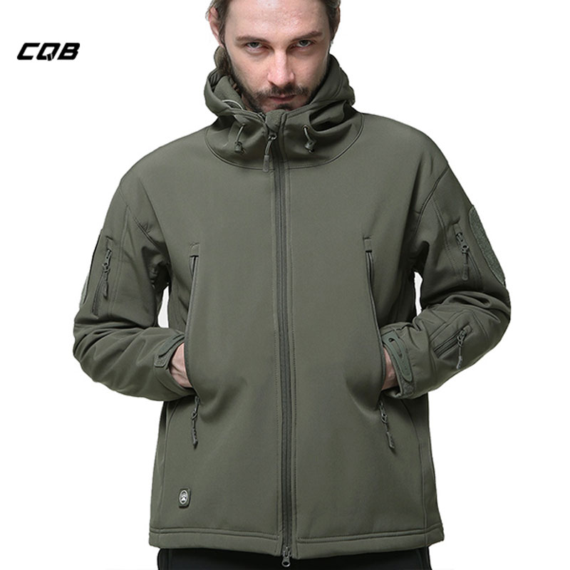 CQB Outdoor Sports Tactical Jackets Men Clothes Camping Climbing Softshell Fleece Windproof Hunting Coat Hiking Jackets SY0015 bresee high powered telescope hd 7x50 binoculars for hunting and outdoor adventure