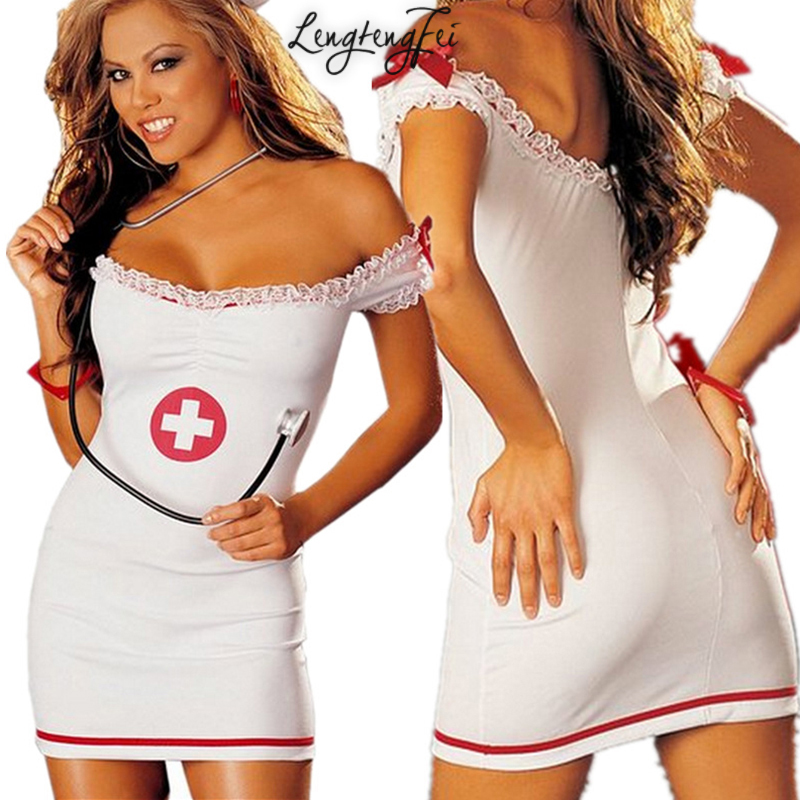 Buy Plus Size Hot 2016 Women Sexy Lingerie Uniforms Temptation Nurse Suit Collar Erotic Lingerie Ropa Erotica Nurses Uniforms