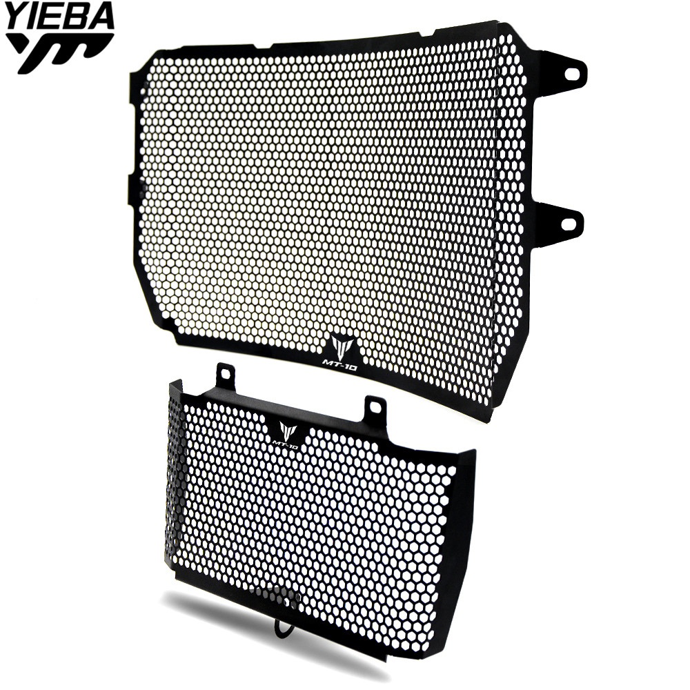 Motorcycle Accessories Radiator Guard Kit Protector Grille Grill Cover for YAMAHA MT10 MT 10 MT-10 FZ10 FZ 10 FZ-10 2016 2017 for yamaha mt07 mt 07 2014 2015 engine radiator bezel grille protector grill guard cover protection black motorcycle accessories