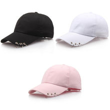 fcbe7a92566 Men Women Baseball Cap Bboy Adjustable Casual Snapback Sport Hip-Hop Ball  Hat Baseball Caps Black Pink White