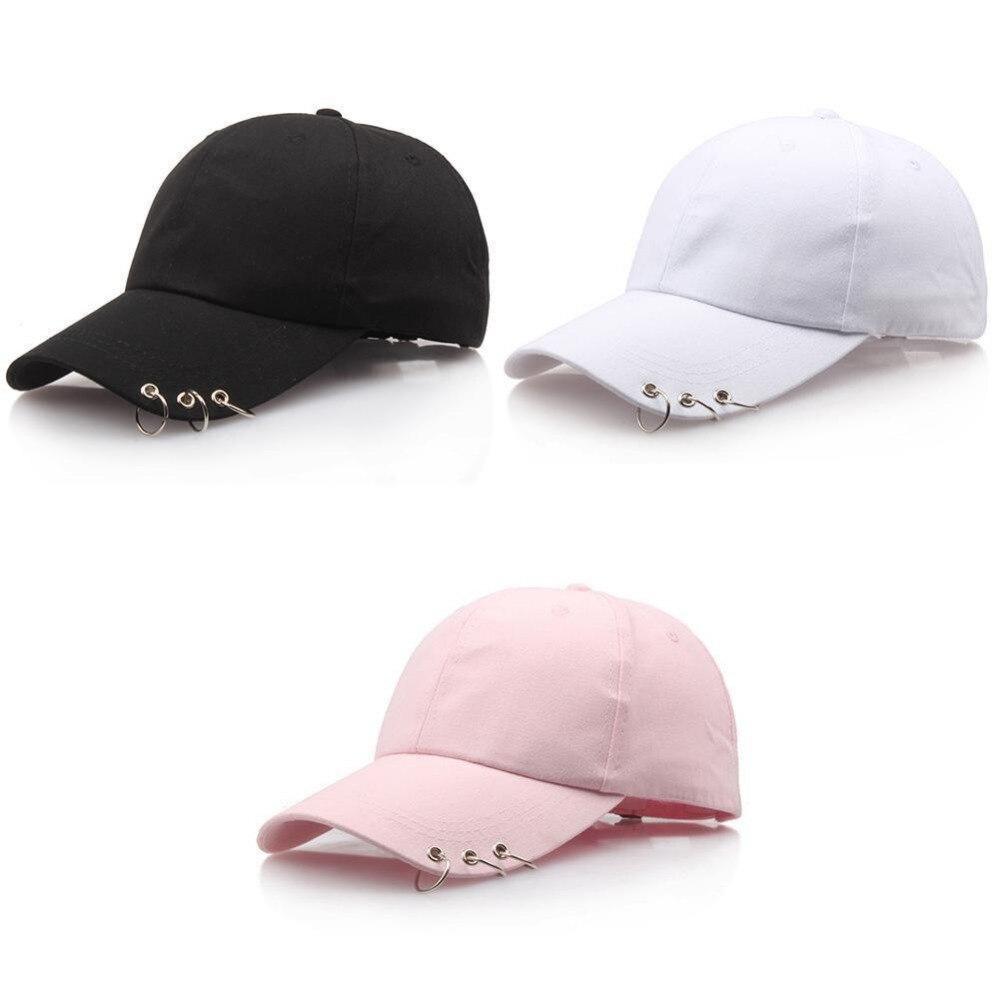 Rainbow Neon Pug Denim Hat Adjustable Mens Casual Baseball Caps