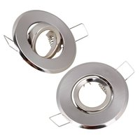 MR11 Polished Chrome Fitting Fixture Lamp Holders Ceiling Spot Downlights 70mm Dia Pack Of 2