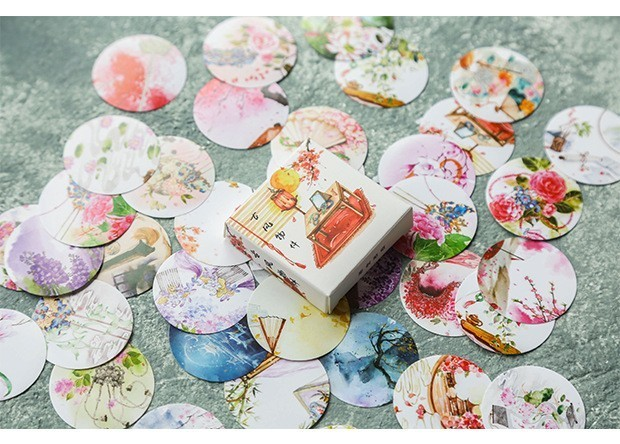 40PCS-box-Color-Cute-Marble-Paper-Sticker-Decoration-Decal-DIY-Album-Scrapbooking-Seal-Sticker-Stationery-Gift(8)
