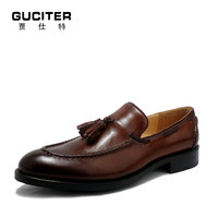 Free Shipping Order MensGoodyear Loafer Shoes Tassel Fashion Genuine Leather Handmade Shoeloafers Shoes 11 12 13