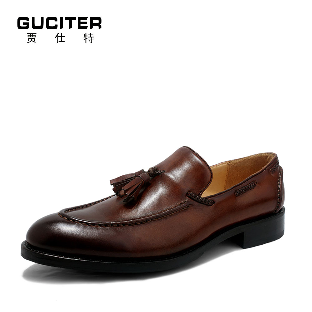 Free Shipping Order mens Goodyear welted shoes Penny tassel genuine leather handmade loafers shoes patina red brown shoes полироль пластика goodyear атлантическая свежесть матовый аэрозоль 400 мл