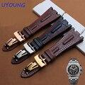 Натуральная Кожа ремешок для часов 28 мм бальк кожаный браслет с раскладывающейся застежкой для AP