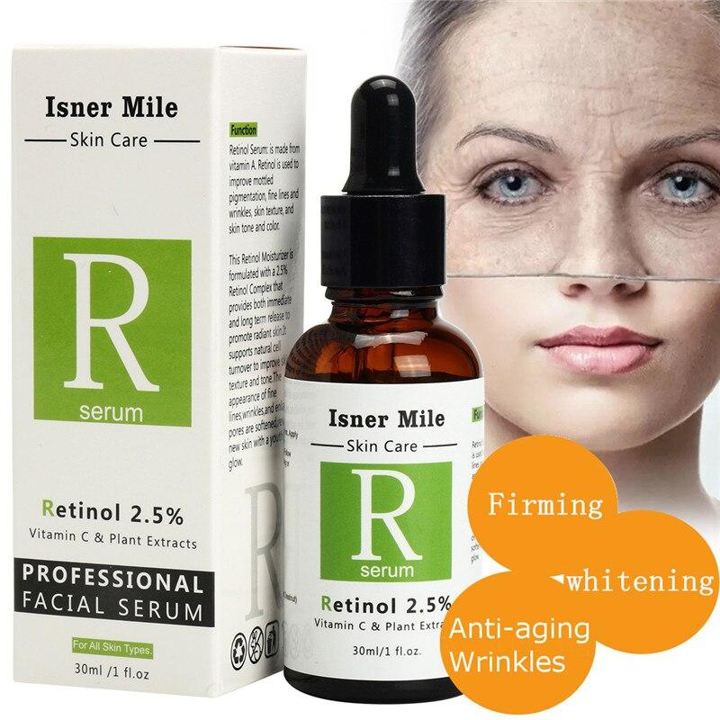 Face Facial Serum Retinol 2.5% 30ml Vitamin C Serum Firming Repair Skin Anti Wrinkle Anti Acne Anti Aging Serum Skin Care