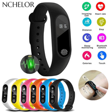 2019 M2 Smart Band OLED Touch Screen BT 4.0 Bracelet Fitness Tracker Heart Rate Sport Watch Monitoring Pedometer Smart Wristband