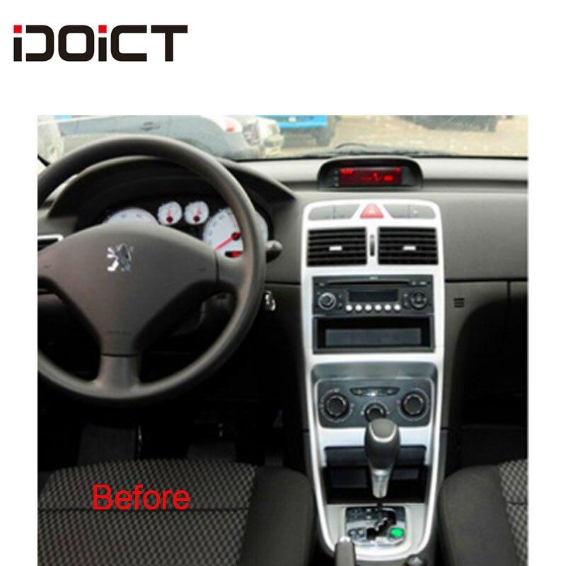 IDOICT Android 8,1 2.5D автомобильный dvd-плеер gps навигация Мультимедиа для peugeot 307 307CC 307SW радио 2002-2013 стерео