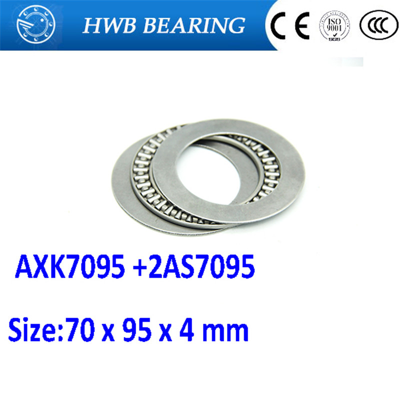 Free shipping 1pcs AXK series AXK7095 +2AS7095 thrust needle roller bearing 70x95x4mm bearing +whosale and retail 70*95*4mm na4910 heavy duty needle roller bearing entity needle bearing with inner ring 4524910 size 50 72 22