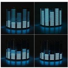 Звук ритм музыки Активированный автомобилей наклейки Эквалайзер Glow синий светодиодный свет Аудио Голос ритм лампа