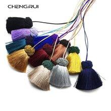 Chengrui borla de seda, borla para vestuário, l180, 5.5cm, franja para cortina, borla artesanal, itens domésticos, 2 pçs/saco