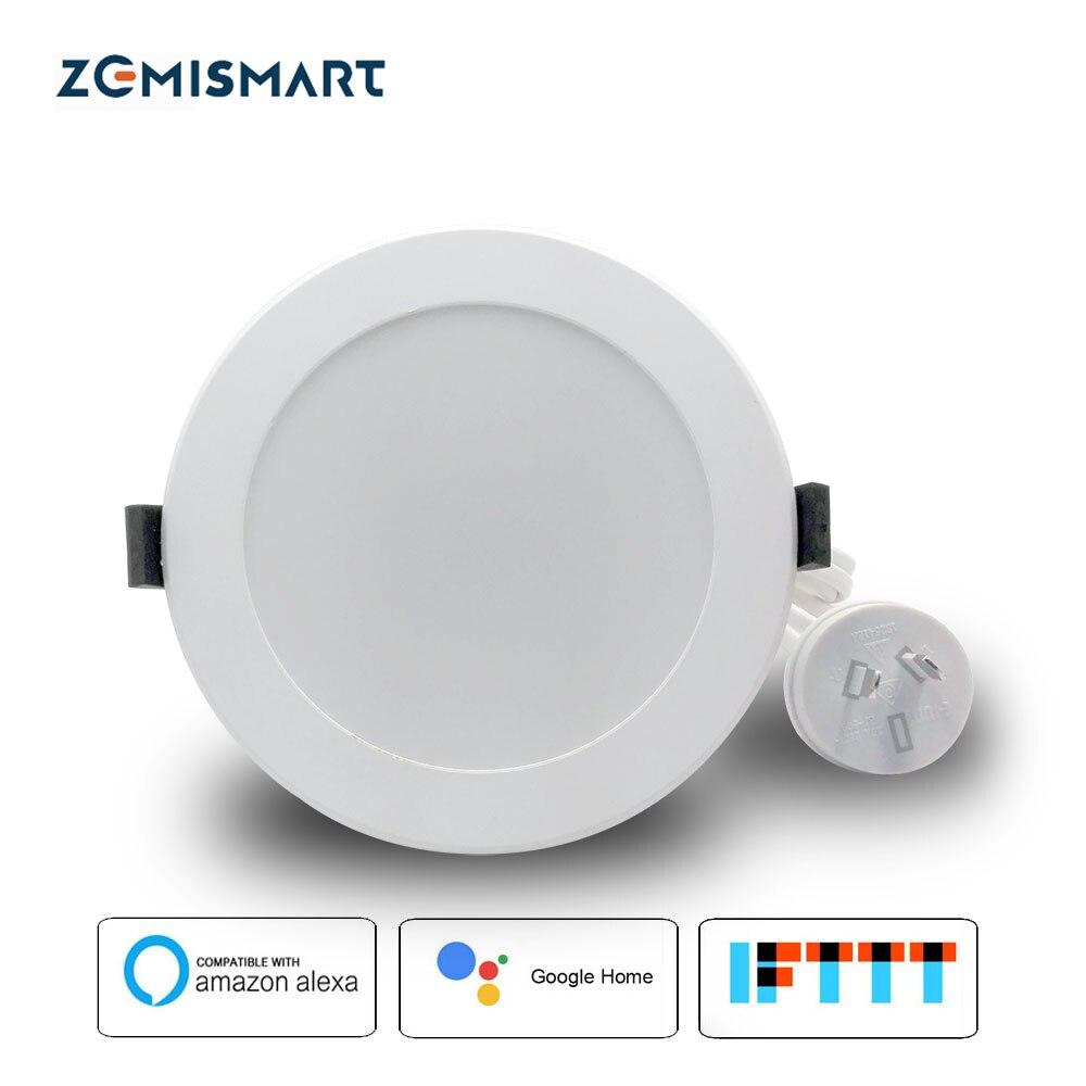Zemismart AU Type 4 pouce WiFi RGBW Led Downlight 10 w Commande Vocale par Alexa Echo Google Assistant À La Maison La Maison automatisation IFTTT