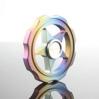 Hexagonal Quality Fidget Spinner Hand Finger Widget Anti Stress Top Rotation High Speed Spinning Titanium Metal