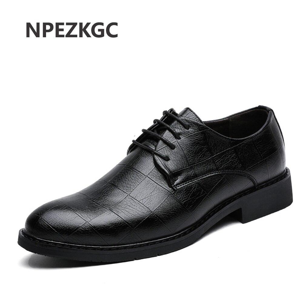 NPEZKGC hommes chaussures en cuir mode corée hommes mocassins confortable bout pointu chaussures d'affaires noir hommes chaussures habillées doux hommes chaussures