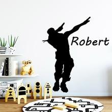 Custom Name battle Royale gamer Self Adhesive Vinyl Wall sticker For Kids Room wallstickers Bedroom Waterproof Art Decal
