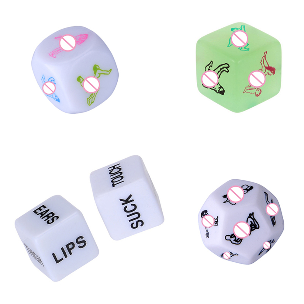 5 Pcs/Set Adult Games Dice Fetish Massage Funny Sex Dice Sexy Romance Erotic Craps Pipe SM Toy For Couples Exotic Accessories