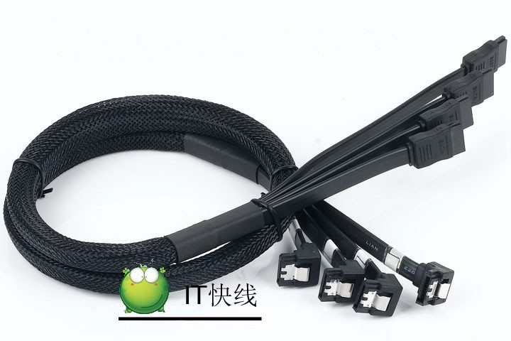 PC diy 4 in 1 High Speed Serial ATA SATA 2 Male to Male Multi Hard Drive HDD RAID DATA Cable Copper Wire Shielding Design 80cm 2pcs high quality hdd ssd sata3 0 iii 6gb 50cm straight cables right angle cable serial ata hard disk data line soft beautiful