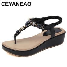 CEYANEAO Summer Fashion Flip Flops women's gladiator sandals