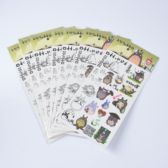 Studio Ghibli Anime TOTORO Waterproof Temporary Body Tattoo Stickers 20*10cm for Kids Miyazaki Hayao Model TOTORO Child Sticker