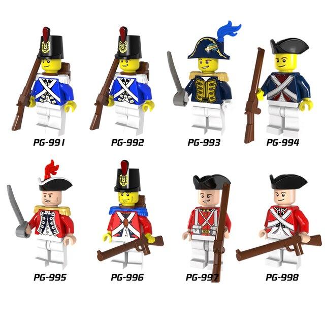 Один императорской армии солдаты королевской семьи охранники честь с пистолет строительных блоков игрушки Дети Подарки, совместимые Legoed PG8035