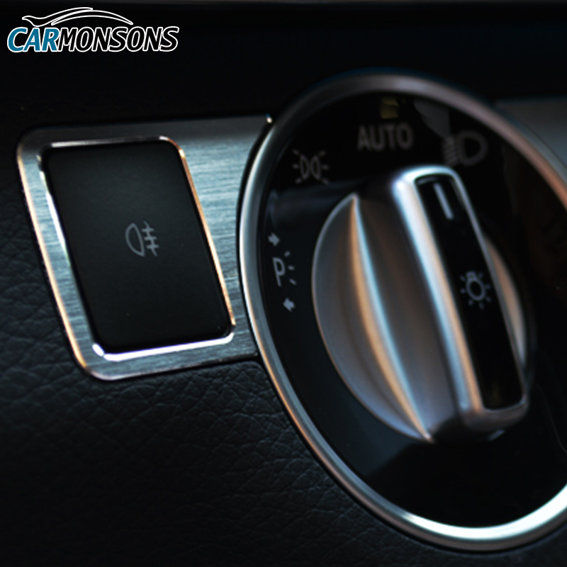 Butang Pelarasan Lampu Carmons Penutup Trim untuk Mercedes Benz A B C - Aksesori dalaman kereta - Foto 3
