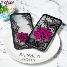 Flower Case For Samsung Galaxy J6 Prime Retro Lace Pattern Matte Phone Plus