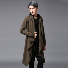 2017 Men's clothing Outerwear trench male medium-long cloak outerwear loose personality outerwear The singer's clothing