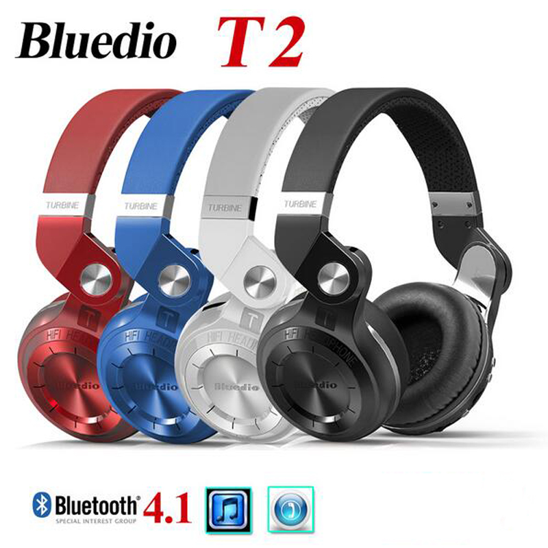 Original Fashion Bluedio T2 Turbo Bluetooth 4.1 Stereo Headphones Headset with Mic High Bass Quality fone de ouvido N2