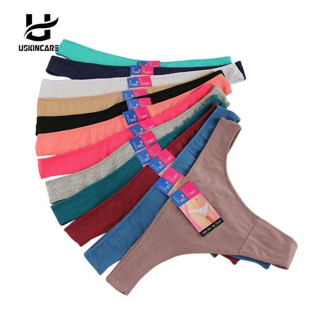 Uskincare Asli Baru ultra-tipis Wanita Seamless Thong Underwear Wanita  G-String Celana Dalam 32035be1e0